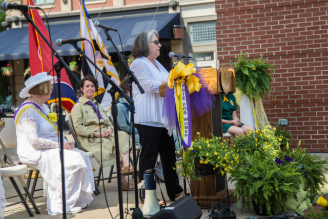 Mayor Rogero, Rally at the Unveiling of the Burn Memorial, Market Street, June 2018